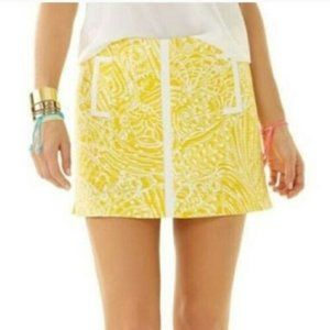 Lilly Pulitzer January Skort Sunglow Yellow Sea 6